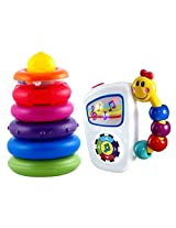 Sassy Rock & Roll Ring Stacker With Take Along Tunes Musical Toy