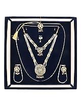 bel-en-teno gold color plated necklace set