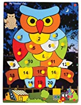 Skillofun Number Owl with Knobs, Multi Color