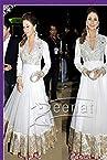 Urmila Mantodkar White Net Bollywood Gown