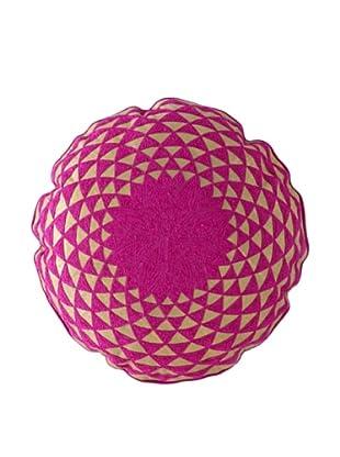Shiraleah Caravan Embroidered Round Pillow (Pink)