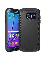 Samsung Galaxy S7 Edge Case, Ziaon(TM) Shield 2-piece Premium Hybrid Protective Case / Cover for Samsung Galaxy S7 Edge - Black