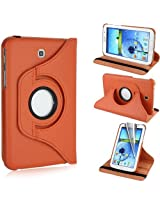 GB 360 Rotating PU Leather Stand Case For Samsung Galaxy Tab3 7.0 P3200 Orange