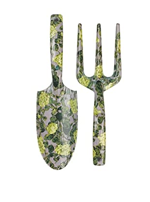 Victoria & Albert Garden Tool Set with Yellow & Grey Roses