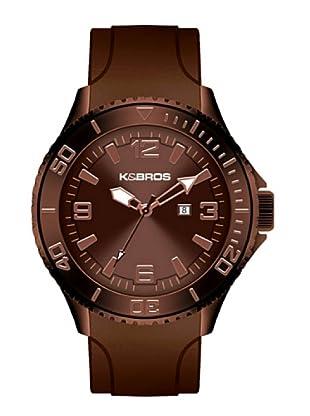 K&BROS 9563-5 / Reloj de Caballero  con correa de caucho Marrón