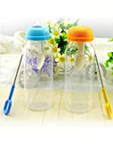 1 Piece Baby's Plastic Nursing Bottle 240ml + Spoon + Cleaning Brush - For Spoon-Feeding Babies and Infants 12 Months+