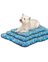 Slumber Pet North Pole Pals Canvas Bed Mat, 35-Inch, Blue