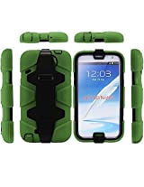 Bracevor 4 in 1 Heavy Duty Armor Case with Belt Clip holster for Samsung Galaxy Note 2