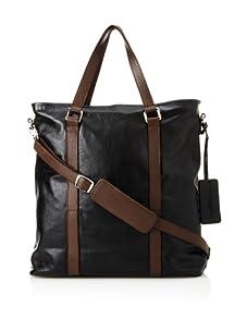 Dalexanders New York Men's The Classic Bag, Black/Brown