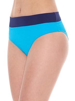 DIM  Braguita Bikini Talle Bajo (Turquesa)