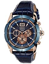Seiko Lord Chronograph Blue Dial Men's Watch - SPC158P1