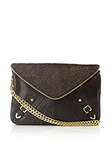 Rebecca Minkoff Women's Maria Envelope Convertible Clutch (Black/Gold)