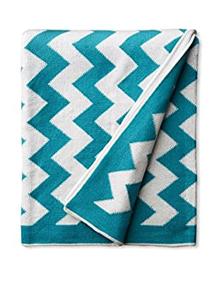 Amity Home Chevron Throw, Teal, Throw