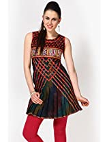 Sleeve Less Embroidered Multi Kurti