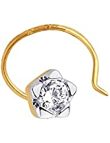 Asmi 18K Yellow Gold Diamond Nose Pin