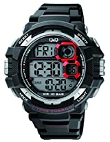 Q&Q Regular Digital Black Dial Men's Watch - M143J001Y