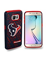 Forever Collectibles - Licensed NFL Cell Phone Case for Samsung Galaxy S6 Edge - Retail Packaging - Houston Texans