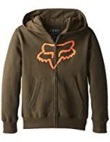 Fox Big Boys' Tract Zip Fleece, Dark Fatigue, Small