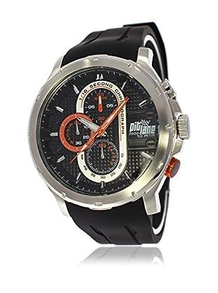 Pit Lane Uhr mit Miyota Uhrwerk Pl-1014-3 schwarz 45 mm