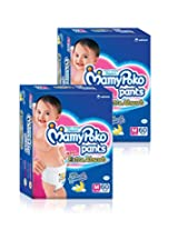 Mamy Poko Medium Size Diapers (2 Packs, 60 Count per Pack)