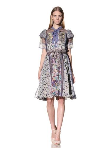Byron Lars Women's Mixed Floral Skirt (Iris)