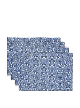 KAF Home Set of 4 Ankara Placemats, Nordic Blue