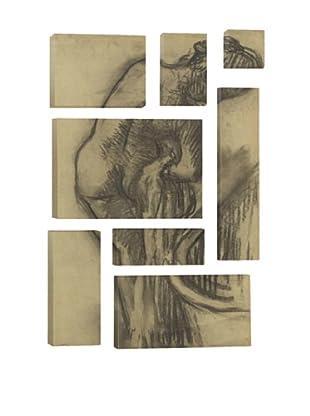 Edgar Degas La Toilette Apres Le Bain 8-Piece Giclée Canvas Print