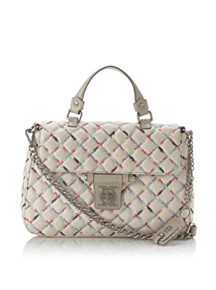 Olivia Harris Women's Gustavia Quilted Satchel with Strap (Rainbow)