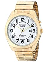 Armitron Men's 20/4981WTGP Easy to Read Gold-Tone Expansion Band Watch