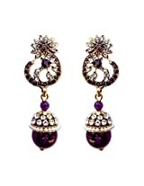 HI LOOK Jhumki Drop Stone Earring for women