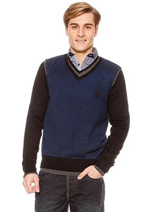 SideCar Pullover Two-Tone blau (Blau)