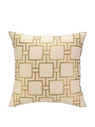 Peking Handicraft Dotted Line Pillow, Citron