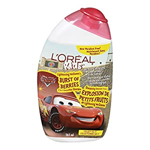 L'OREAL Kids Cars Lightening McQueen's Burst of Berries Shampoo 265 ml - Pack of 1, 265ml