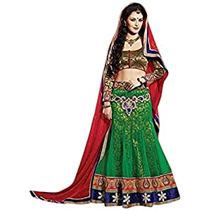 Red & Green Designer Bridal Lehenga