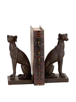 UMA Polystone Dog Bookends