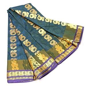 Kanchipuram DKM05AR017 Brunswick green Color Fancy Silk Saree