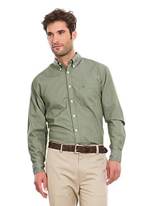 Pedro del Hierro Camisa Lisa (Verde Oscuro)