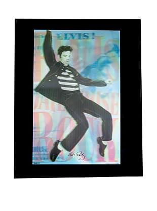 Elvis Jailhouse Framed 3-D Hologram Poster