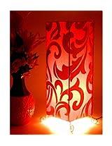 Tucasa Floral Design Floor Cum Table Lamp