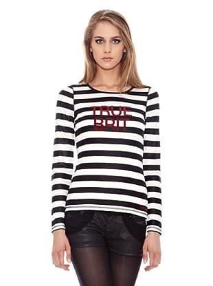 Pepe Jeans London Longsleeve Velvet (Schwarz/Weiß)