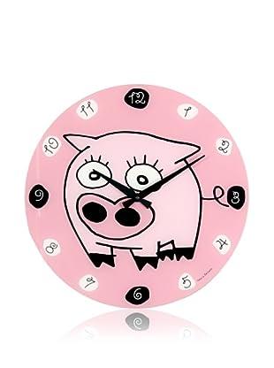 NeXtime Silvio Wall Clock (Pink Multi)