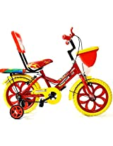 Master Kids Bike Bicycle 14 Inches Red Yellow For Kids 4-7 Years All Metal