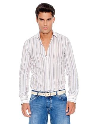 D&G Camisa Gerhard (Blanco / Marrón / Gris)