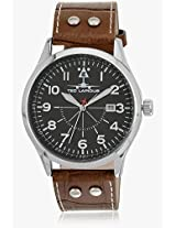 5127903 Brown/Black Analog Watch Ted Lapidus