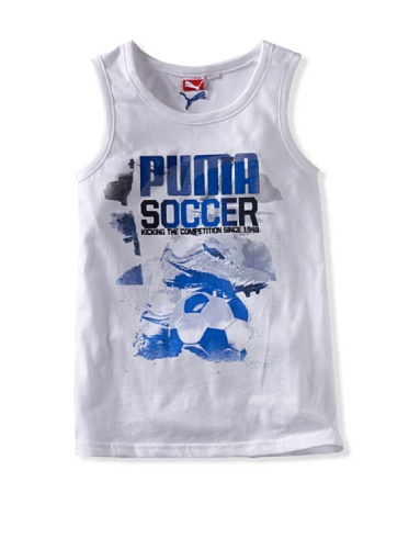 Puma Boys 8-20 Competition Muscle Tee (White)