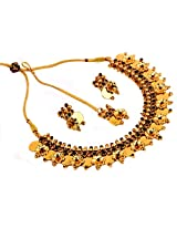 Megh Craft Women Indian One Gram Gold Plated Jewellery with Maang Tikaa