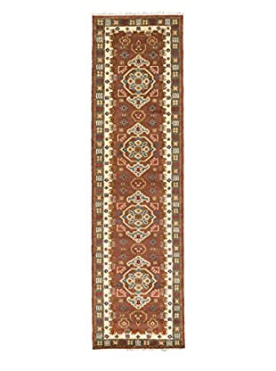 eCarpet Gallery One-of-a-Kind Hand-Knotted Royal Kazak Rug, Brown/Cream, 2' 10
