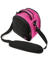 VanGoddy Laurel DSLR Camera Carrying Bag with Removable Shoulder Strap for Pentax K-x Digital SLR Camera (Hot Pink)