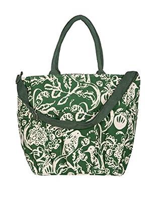 Rock Flower Paper Toile Weekender Bag, Evergreen