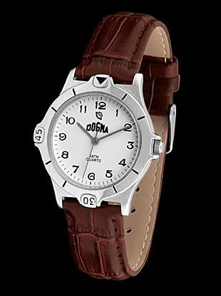 Dogma G1010 - Reloj de Caballero movimiento de quarzo con correa de piel marrón